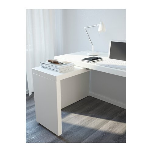 Amazoncom Ikea Desk With Pull Out Panel White 302105145206