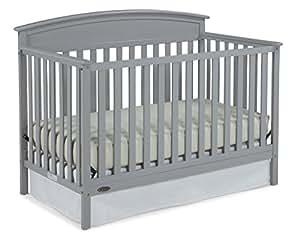Graco Benton 5-in-1 Convertible Crib, Pebble Gray