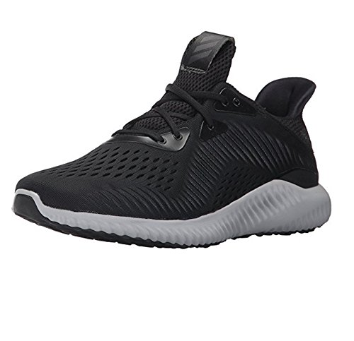 adidas Men's Alphabounce Em m Running Shoe, Black/White/Utility Black, 10 Medium US Adidas Mens Edge Top