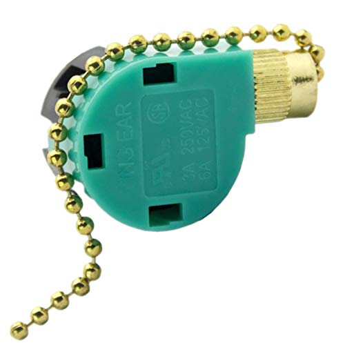 ZE-268S6 Pull Chain Cord Switch Fan Switch,SerBion 3 Speed 4 wire Speed Control Switch Ceiling Fan Replacement Speed Control Switch,Use for ceiling fans,Appliances.lamps and wall lights
