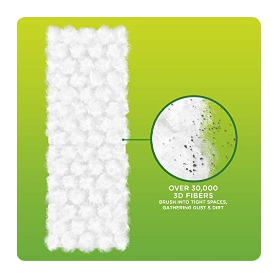 Swiffer Sweeper Heavy Duty Mop Pad Refills for Floor Mopping and Cleaning, All Purpose Multi Surface Floor Cleaning Product, 20 Count, 2 Pack 7 2x More Trap + Lock of dirt, dust, and hair vs. multi-surface Sweeper dry cloth Over 30,000 3D fibers brush into tight spaces gathering dust, dirt, and pet hair Great on Grout and any other floors from tile to finished hardwood