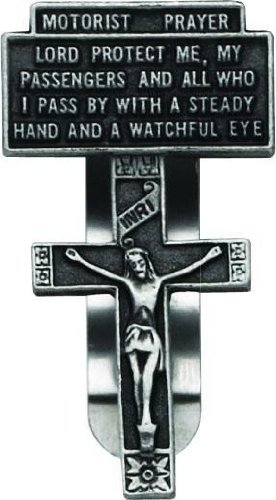 2-3//8-Inch Cathedral Art KVC111 Auto Visor Clip Motorist Prayer