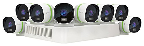 EZVIZ CRISPr TRIPLE HD 3MP Outdoor Surveillance System, 8 Weatherproof HD Security Cameras, 16 Channel 3TB DVR Storage, 100ft EXIR Night Vision, Customizable Motion Detection Zones