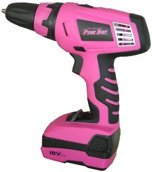 The Original Pink Box PB18VLI 18-volt Lithium Ion Cordless Drill