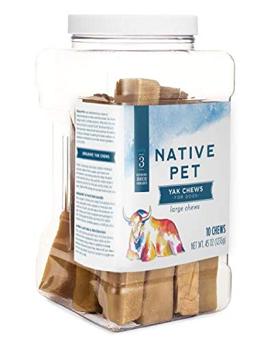 Native Pet Yak Chews for Dogs (Small, Medium, Large, and XL) – Pasture-Raised and Organic Yak Cheese Himalayan Dog Chews…