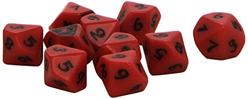 Q-Workshop QWOL5R62 L5R Scorpion Clan Dice Set D10 Board Game (10 Stuck) by Q-Workshop by Q Workshop