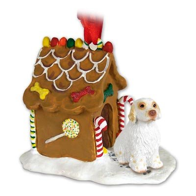 Spaniel Gingerbread - Clumber Spaniel Ginger Bread House Ornament