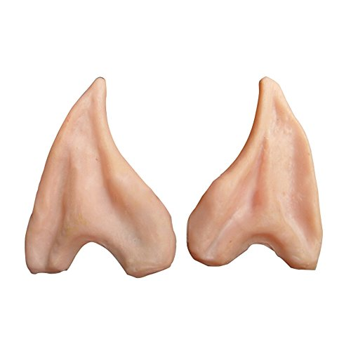 Cacys-Store - Halloween Party Cosplay Accessories Latex Soft Pointed Prosthetic Wizard Elf Fairy Hobbit Vulcan Spock Alien Costume Tips Ears