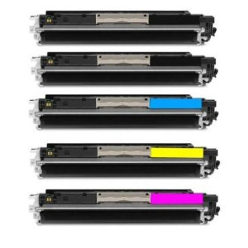 5 Pack InkClub Compatible Toner Cartridge for HP 130A CF350A CF351A CF352A CF353A Set (2 Black + 1 each Cyan/Magenta/Yellow)