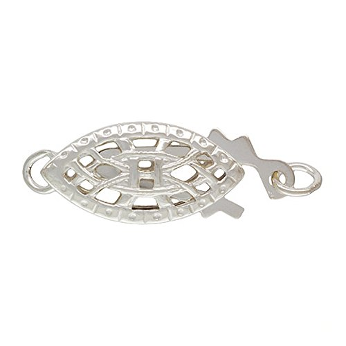 JensFindings 4 qty. 6x12mm Oval Filigree Pearl Clasps .925 Sterling Silver By ()