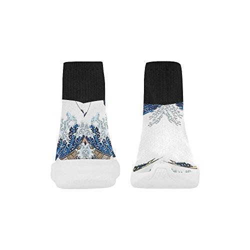 D-story Hundar Sträcka Socka Mens Skor Löparskor Mens Sneakers