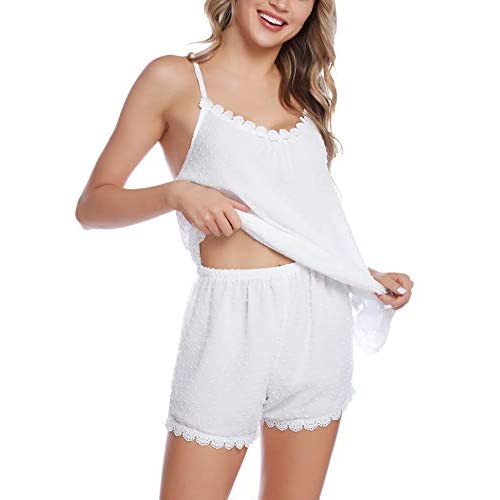 ad1e18134f805a Nachtwäsche Damen Schlafanzug Kurz Pyjama Shorty Spitzen Sleepwear ...