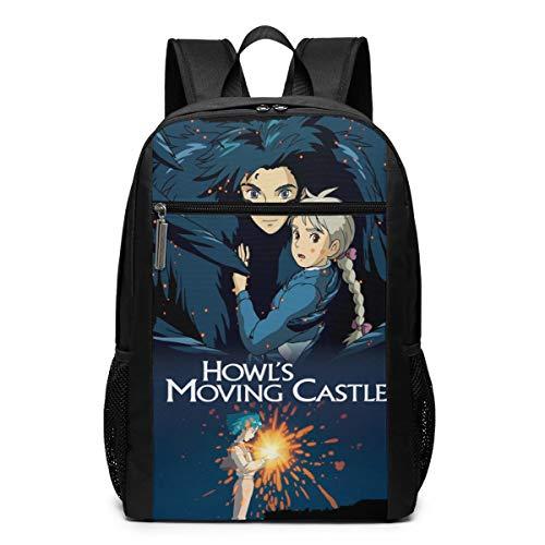 Howl's Moving Castle Backpack Laptop Backpack School Bag Travel Backpack 17 Inch