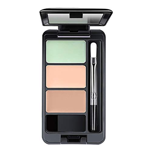 Chezaa LIPHOP Perfect Cover Colour Makeup 3 Colors Face Concealer Camouflage Cream Contour Palette Suit, Eraser Dark Circles, Without Clumping and Cracking, 0.15 oz (A) from Chezaa