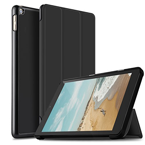 IVSO All-New Fire HD 10 2019 Tablet Case, Ultra Lightweight Slim Smart Cover Case with Auto Wake/Sleep for All-New Amazon Fire HD 10 Tablet Case (9th Generation, 2019 Release) (Black) (Best Cheap 10 Tablet 2019)