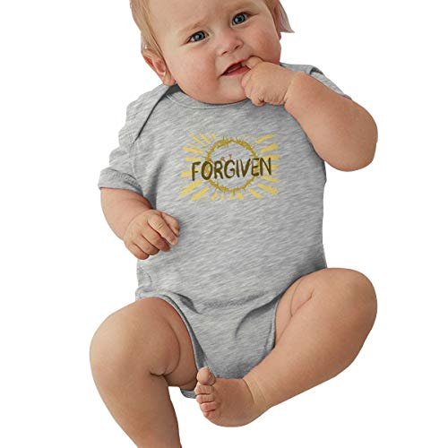 Liberated 4 Ever Jesus Christ Forgiven Crown of Thorns Forgiven, Forgiven Artwork,Christian Apologetics Gray Baby Short Sleeve Bodysuit 0-3M