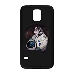 Samsung Galaxy S5 Cell Phone Case Black WOLFY GOES TO MARS Lwpgy