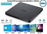 Dell DVD Drive External USB Ultra Slim +/-RW Plug & Play DVD/CD RW Rom Drive Writer Burner for Dell, HP, Lenovo, Acer Laptop / Desktop / Ultrabook
