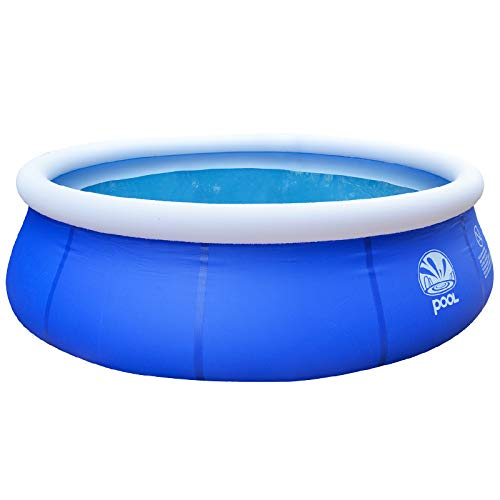 ZellyPower Inflatable Outdoor Pool Family Swimming Pool Portable Summer with Drain Valves, Water Toys, Swimming Rings, Filter Pump, Ground Cloth, and Repair Kits for Kids Boys Girls by ZellyPower (Image #6)