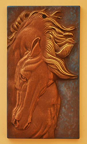 Panno Panel bas-Relief Nice Horse's Head Concrete Plaque Molds Decor Wall D30