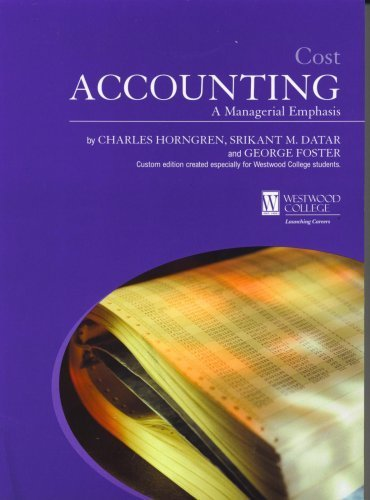 cost accounting managerial emphasis 2nd edition pdf