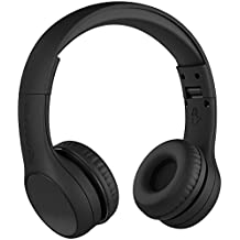 New! LilGadgets Connect+ STYLE Premium Volume Limited Wired Headphones with SharePort for Children / Kids (Black)
