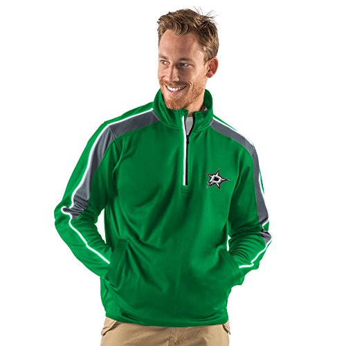 NHL Dallas Stars Men's Synergy Half Zip Pullover Jacket, X-Large, Green