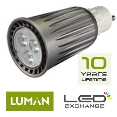 Usine Prix–seulement £ inclus chaque.. LED haute puissance 400lm luman haute puissance Spot LED, GU10, 8W, 400lumens. (50lm/W), blanc chaud (3000K) Angle du faisceau conce