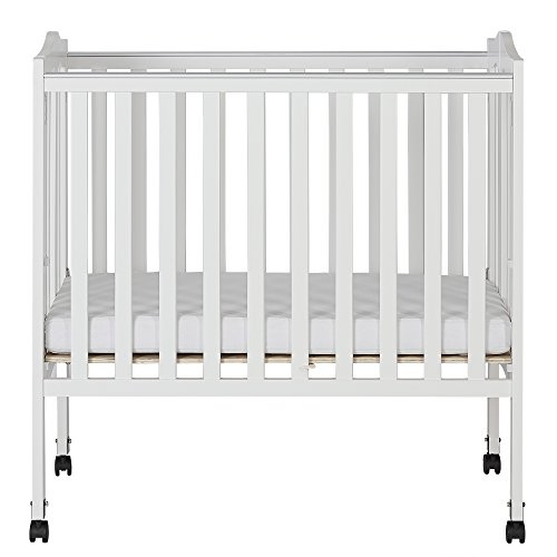 Dream On Me 2 in 1 Lightweight Folding Portable Stationary Side Crib by Dream On Me