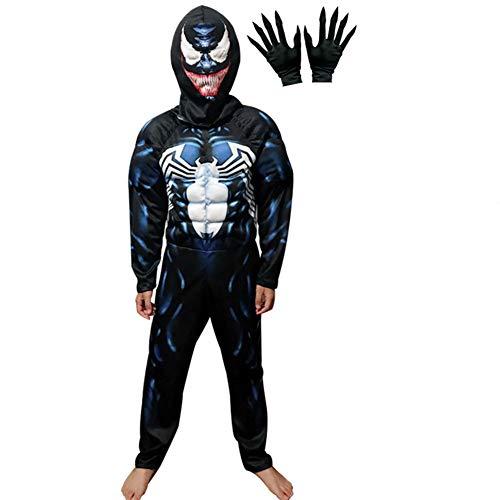 Venom Costume,3D Venom Cosplay Costume for Boys Bodysuit Romper ()