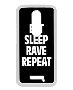 Motorola Moto X 3rd Generation Case ,Eat Sleep Rave Repeat white Moto X 3rd Gen Cover Fashionable And Unique Custom Designed Phone Case