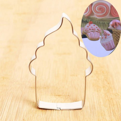 Mophorn Unique Stainless Steel Cupcake Ice Cream Biscuit Cookie Cutter Fondant Cake Mold