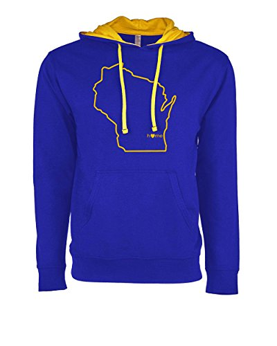 Orange Arrow Womens Wisconsin Home Hooded (W, M, Royal) - WI Brewers Hooded Sweatshirt by Hometown Hoodies (Milwaukee Rock Brewers)