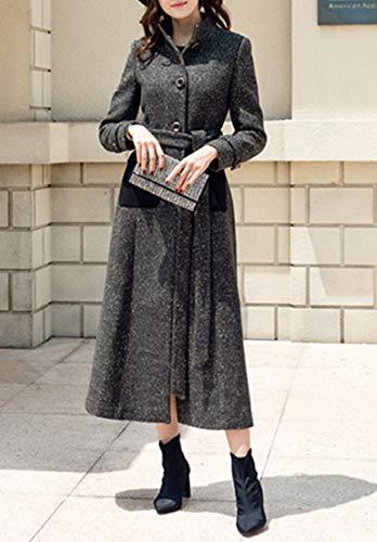 Mode Femmes Longue Manteau Coupe Plaer vent Aux Cachemire 4Evqnw8