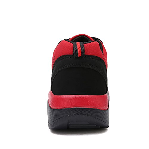 En Sommar Mens Avslappnade Sport Mode Väg Löparskor Black & Red