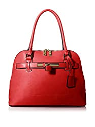 SOCIETY NEW YORK Women's Dome Bag, Red