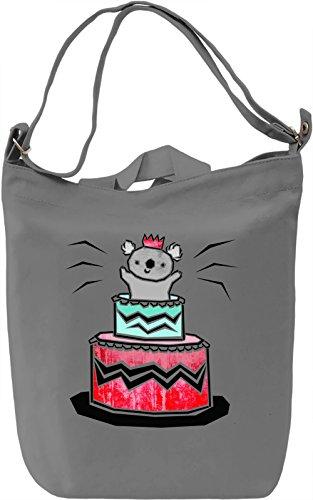 Koala Cake Borsa Giornaliera Canvas Canvas Day Bag  100% Premium Cotton Canvas  DTG Printing 
