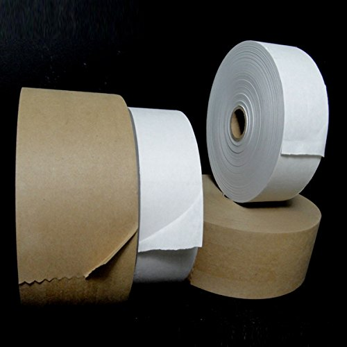 "Price comparison product image Kraft Gummed Paper Tape - Water Activated (KRPTI) (Kraft,  3""(76.2mm) x 600'-10 Rolls Per Case )"