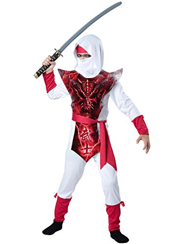 [InCharacter Costumes Ghost Ninja Costume, One Color, 8] (Ninja Dragon Costumes)