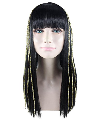 Halloween Party Online Egyptian Princess Wig, Black Adult (Egyptian Man Adult Wig)