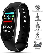 ZOYJITU Fitness Armband mit Pulsmesser Wasserdicht IP67 Fitness Tracker Aktivitätstracker Pulsuhren Smartwatch Schrittzähler Uhr Vibrationsalarm Anruf SMS Whatsapp Beachten für iPhone Android Handy