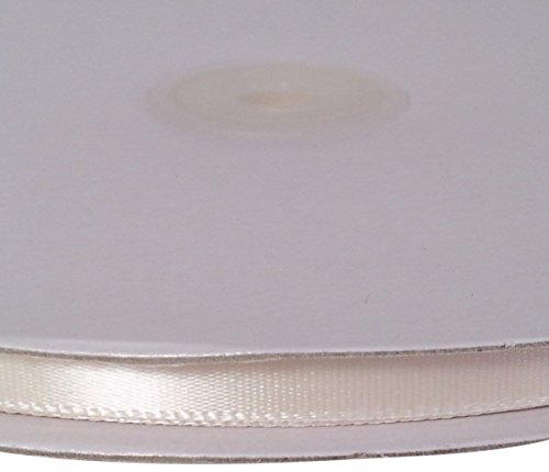 Firefly Imports Homeford Single Face Satin Ribbon, Antique White, 1/4-Inch/100-Yard