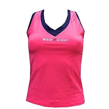 Camiseta Padel Black Crown Mujer Tesino Rosa/Marino-S: Amazon.es: Deportes y aire libre