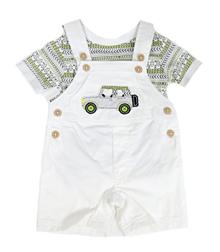 First Impressions Sweater - First Impressions Baby Boys 2-Piece Safari T-Shirt & Shortall Set (0-3 Months 23 1/2 12 lbs)