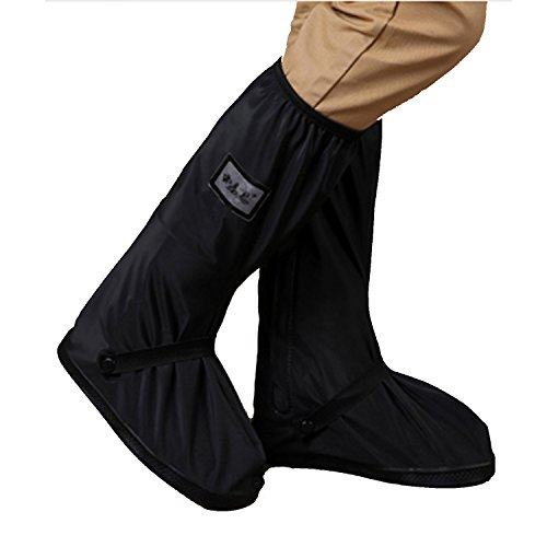 Waterproof Shoes Rain Snow Covers, OMGOD Reusable Rain Boot Shoe Cover with reflector Rain Snow Protective Slip-resistant For Springtime Summer Rainstorm Rainy Day Motorcycle Bike Men Women (Boot Covers)