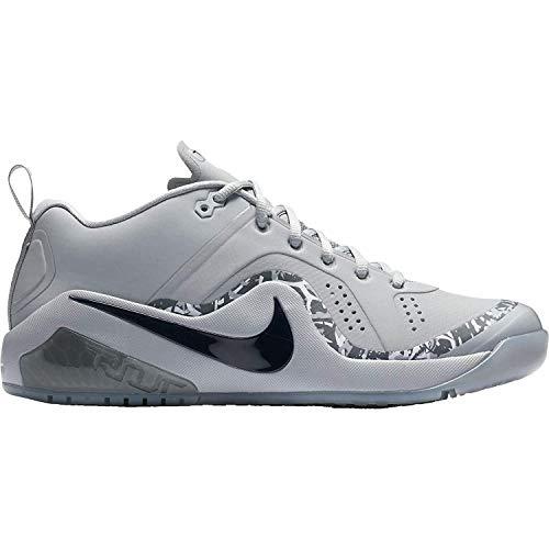 Nike Men's Force Zoom Trout 4 Turf Baseball Cleats (Grey/Black, 11.5 M US)