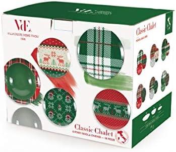 Vajilla de 18 piezas Villa dEste Home Tivoli 5900691 Classic Chalet porcelana gres