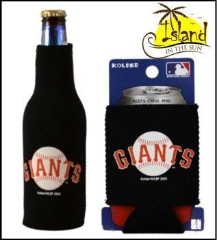 - SET OF 2 SAN FRANCISCO GIANT CAN & BOTTLE KOOZIE COOLER by Kolder