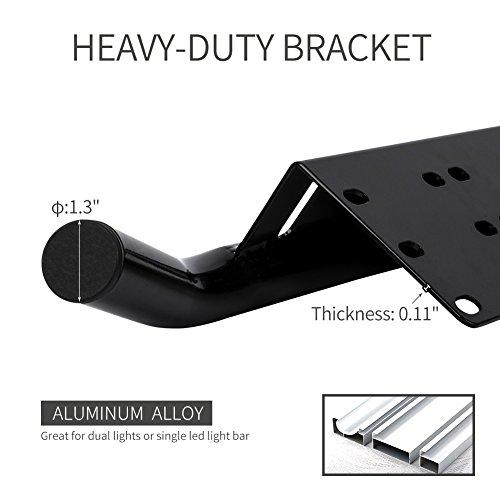 liteway license plate holder and light bar mount aluminum bull bar style front bumper number. Black Bedroom Furniture Sets. Home Design Ideas