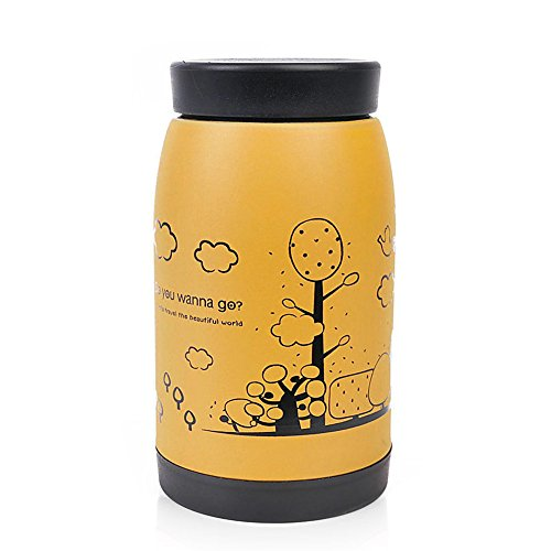 XUAN'S SHOP 1Pc 250ml Steel Stainless Vacuum Cup Flask Travel Thermos Coffee Insulated Mug (yellow)